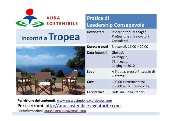 Leader Consapevole incontri a Tropea
